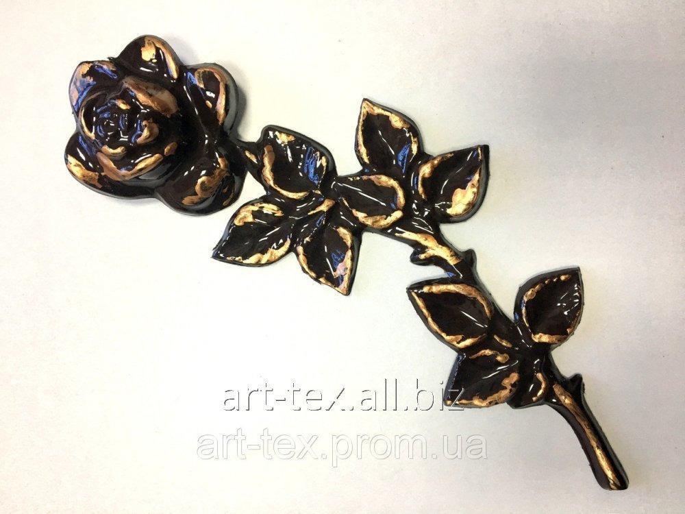 Роза 6.06 290*100мм бронза
