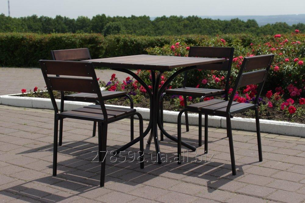 KIT-Classic-BD furniture set Classic (black metal, dark wood)