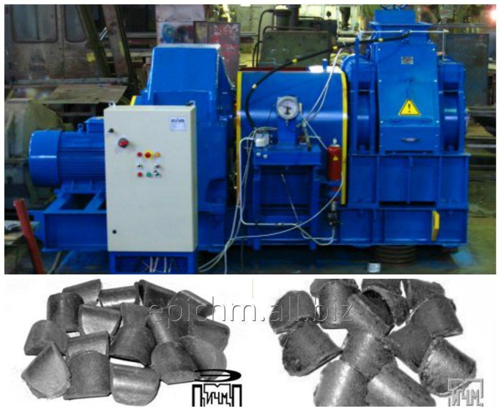 Прессовое оборудование для производства брикетов из кека