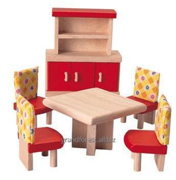 Мини-мебель 2, деревянные игрушки