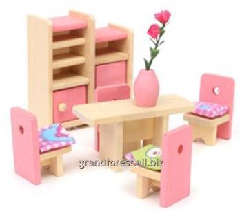 Мини–мебель 5, деревянная кукольная мебель