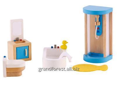 Мини–мебель 9, набор игрушечной мебели для ванной