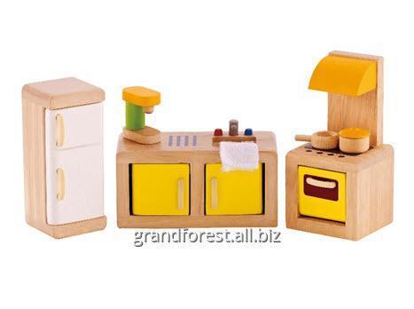 Мини–мебель 14, деревянная игрушечная мебель Кухня