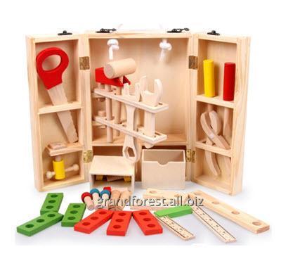 Набор строителя 4, деревянный набор инструментов