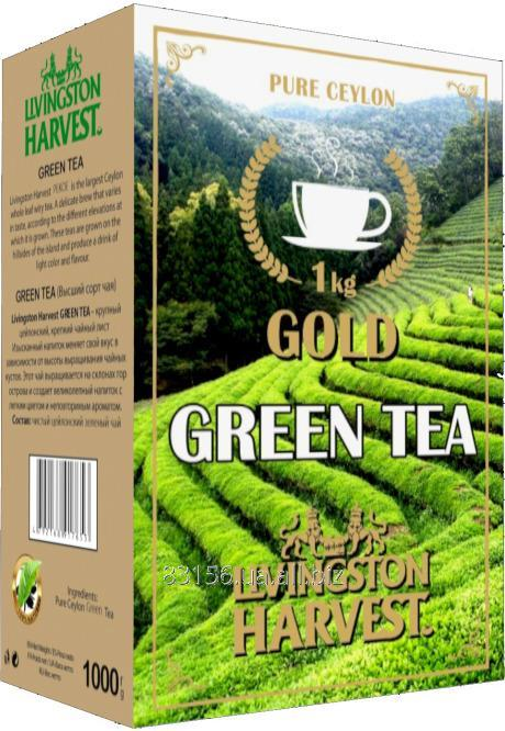 Чай Цейлонский зеленый крупнолистовой GOLD 1кг