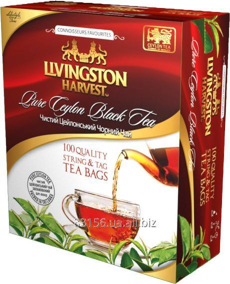 Чай Цейлонский черный пакетированный 100 пакетов без конверта
