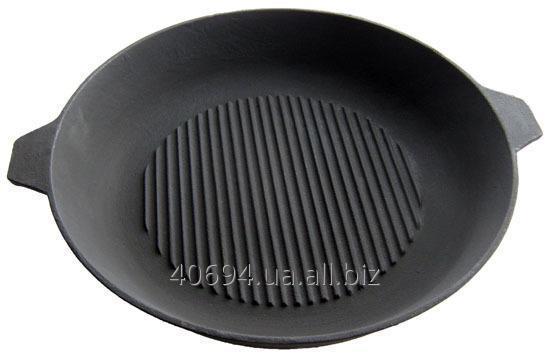 Сковорода гриль 32 см с двумя ручками