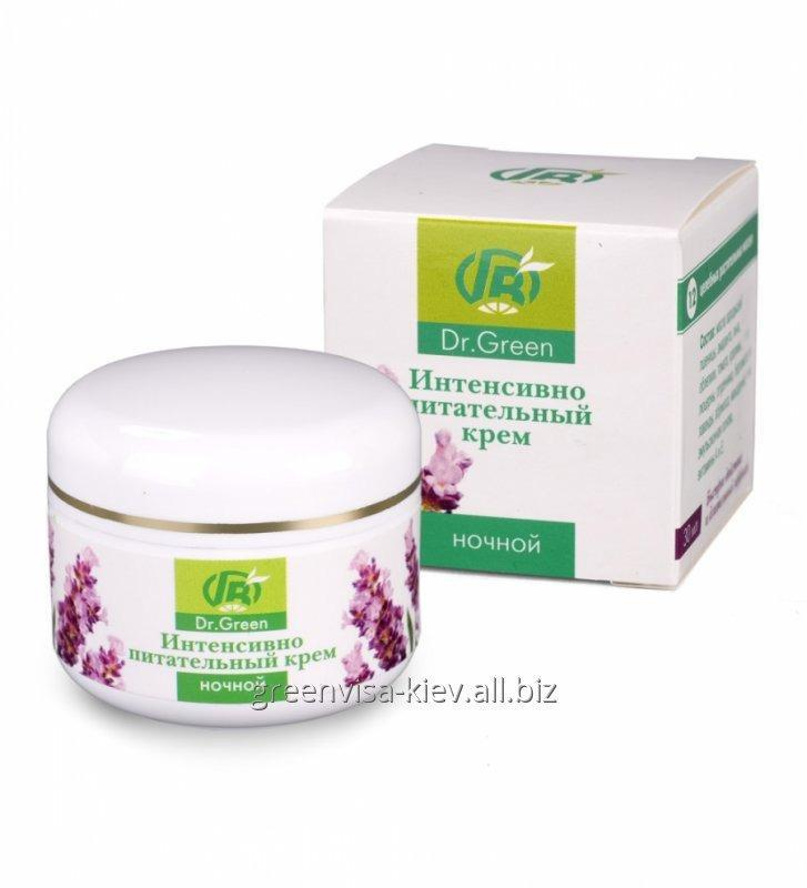Buy Cream NIGHT from Greene Visa for intensive food and restoration of face skin