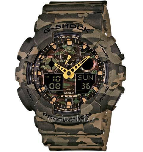 Часы GA-100CM-5AER, Casio G-Shock