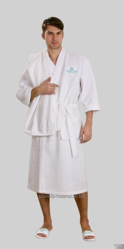 Dressing gown white wafer for salons of a bath and hotels of river S ...