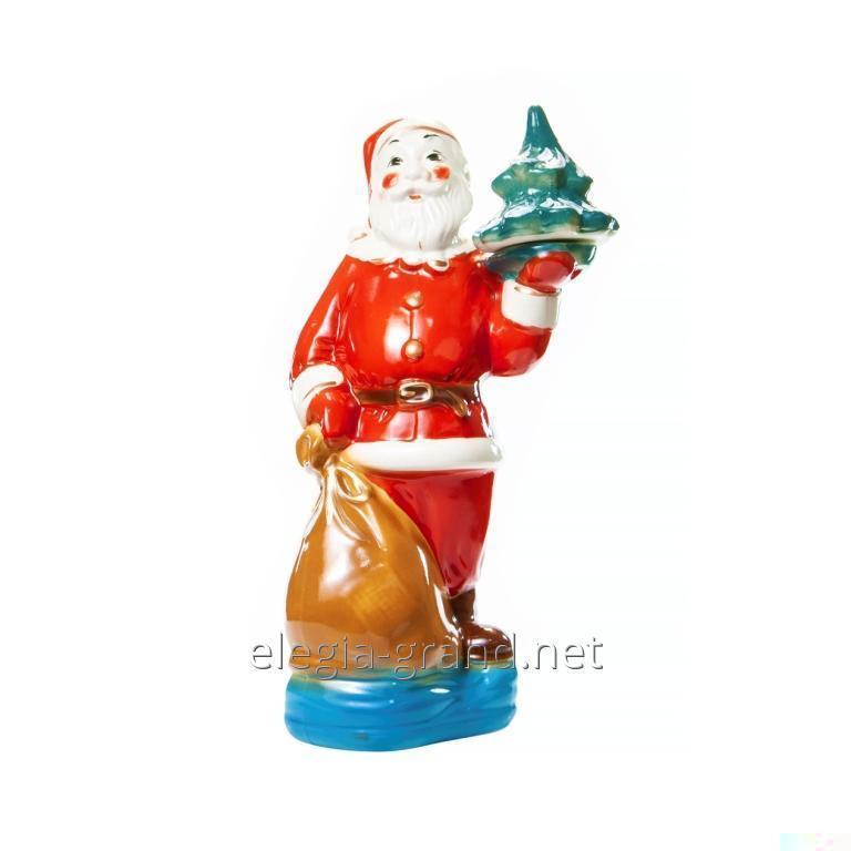 """Эксклюзивная керамическая рождественская бутылка с водкой """"Санта Клаус"""""""