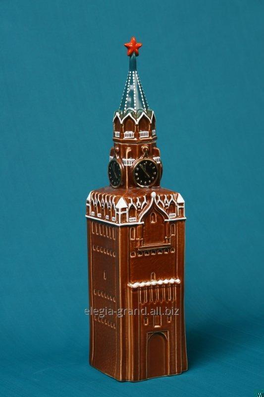 """Керамический сувенирный штоф для водки 0,75 """"Кремль"""""""