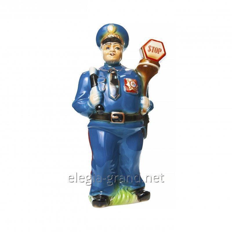 """Сувенирная бутылка из керамики для водки """"Полицейский"""""""