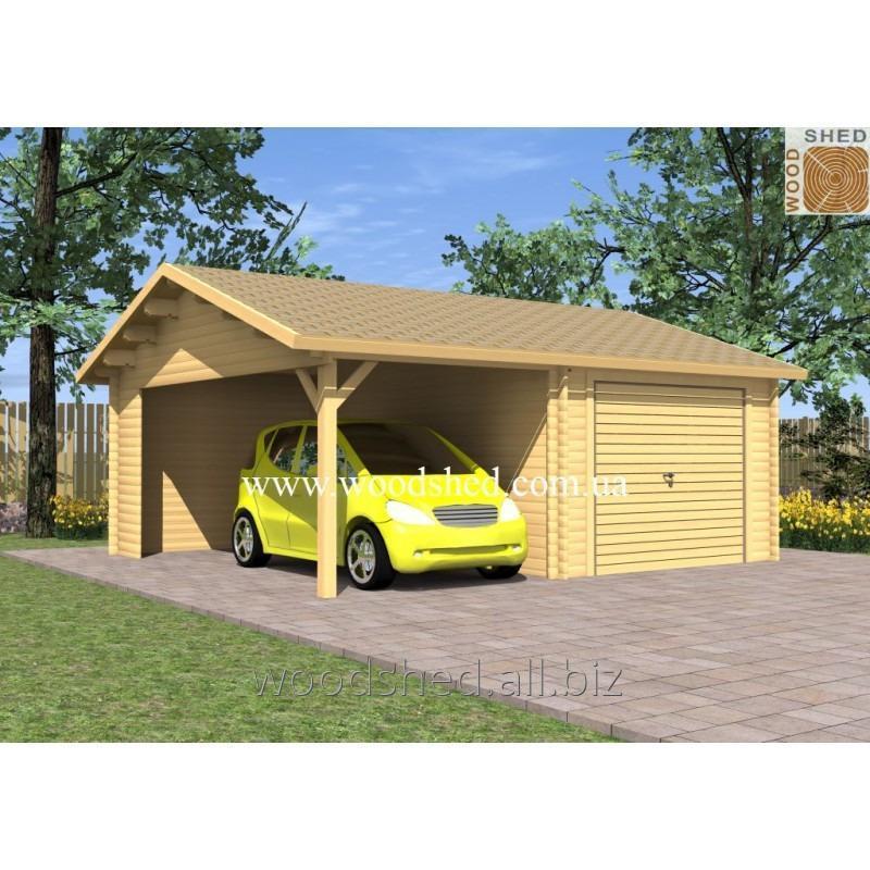Деревянный гараж Златоус