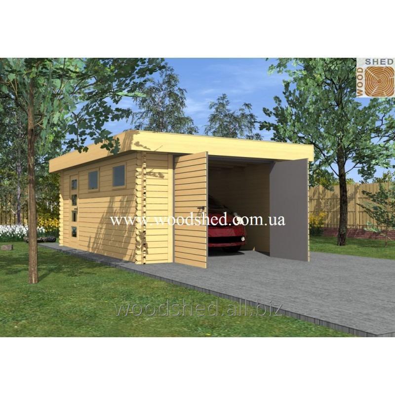 Деревянный гараж Ждан