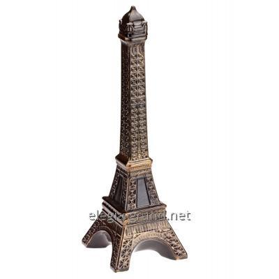 Decorative bottle from ceramics in the form of the Eiffel Tower for cognac, Paris wine