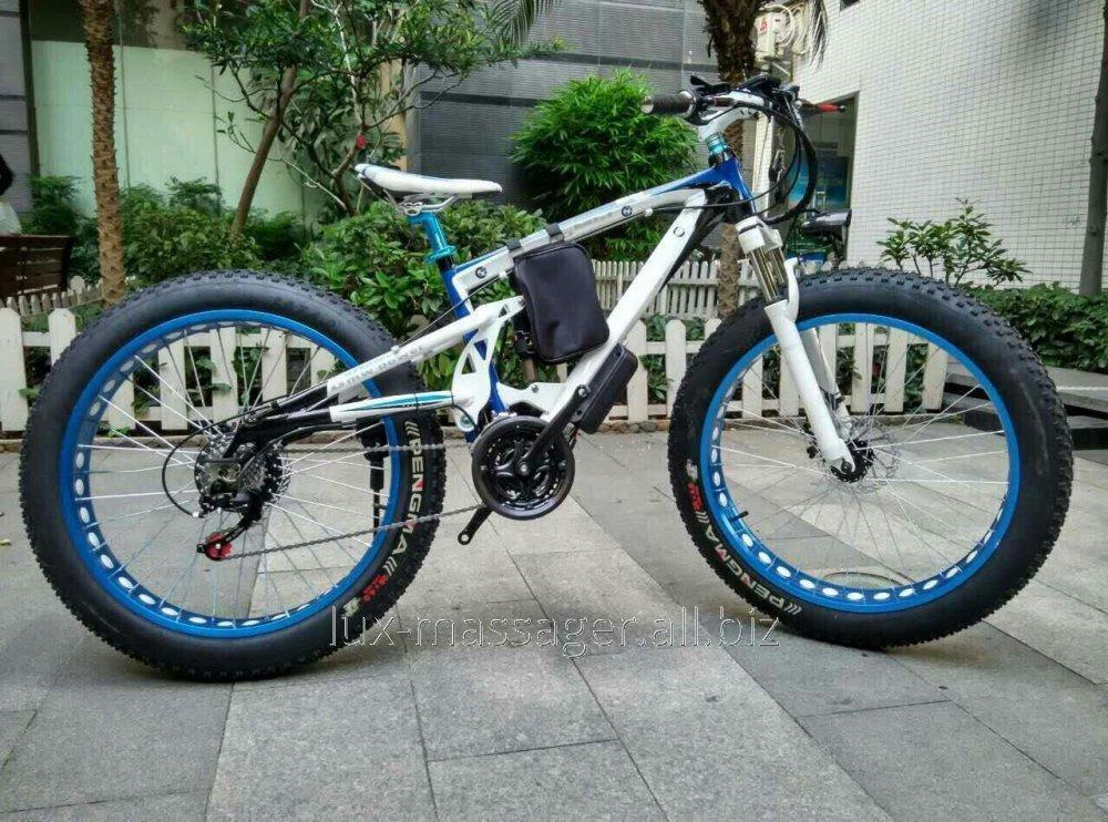 Электровелосипед BMW X6 Electric Rear Drive Бело-голубой