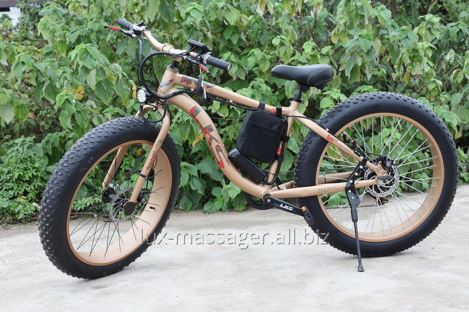 Электровелосипед LKS Fatbike Золотой Electro Rear Drive