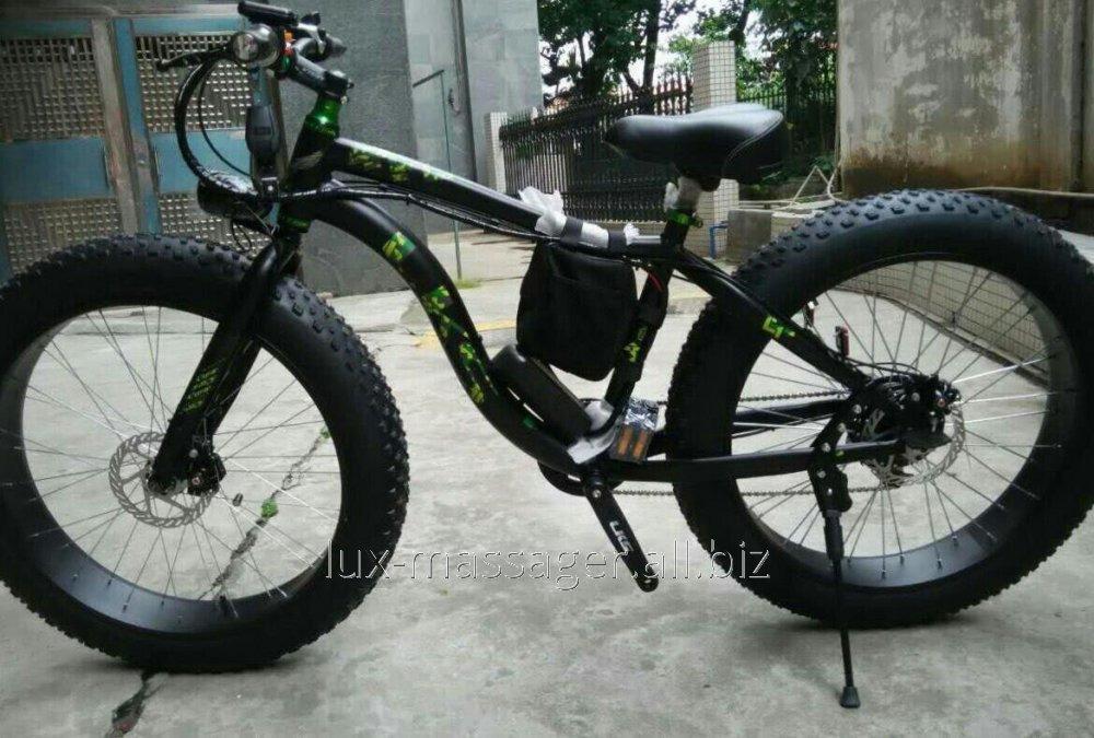 Электровелосипед LKS Fatbike Чёрно-зелёный Electro Rear Drive