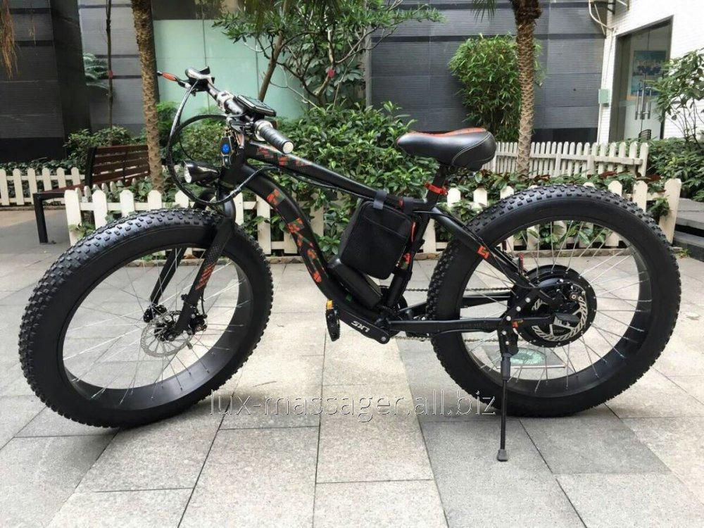 Электровелосипед LKS Fatbike Чёрно-красный Electro Rear Drive