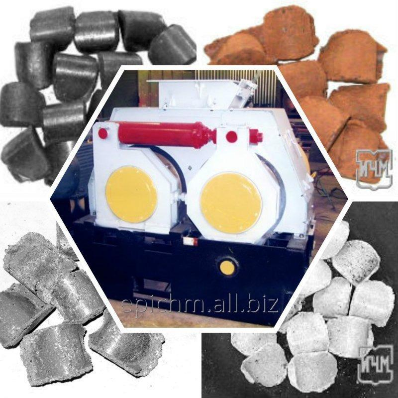 Оборудование для получения топливных гранул. Валковый брикетный пресс.
