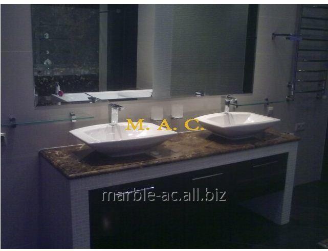 Купить Столешница для ванной из натурального камня