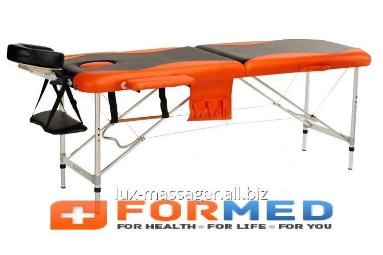 Стол массажный алюминиевый 2 сегментный двухцветный, арт. F3638