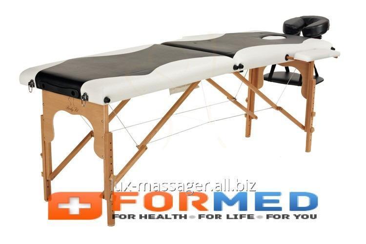 Стол массажный деревянный 2 сегментный двухцветный, арт. F3645