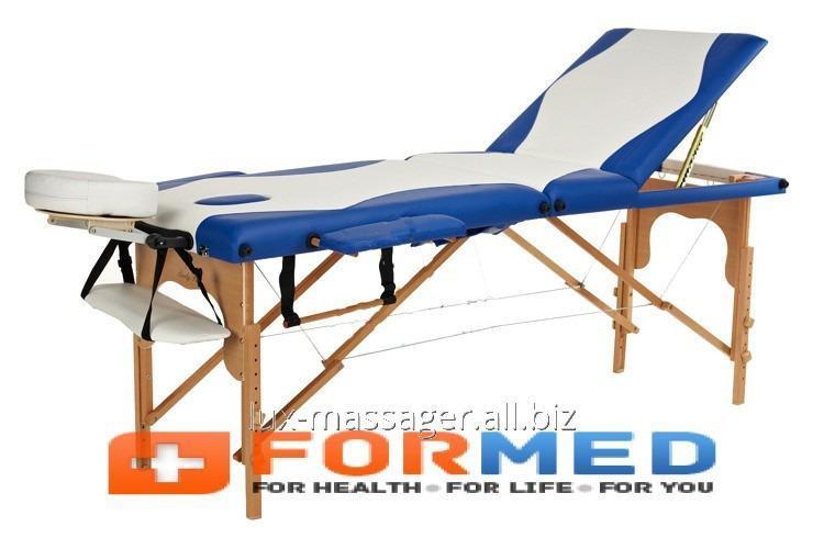 Стол массажный деревянный 3 сегментный двухцветный, арт. F3647