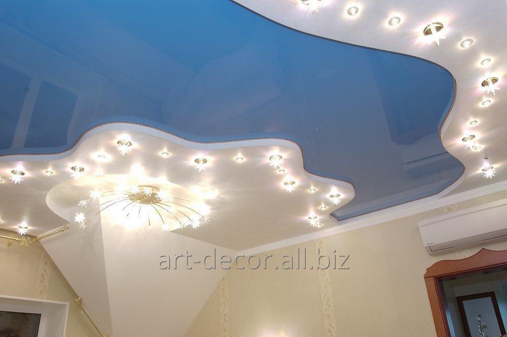 Купить Двухуровневые натяжные потолки