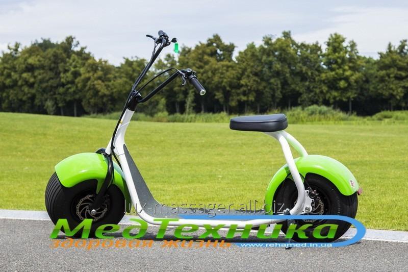 Электроскутер SEEV Citycoco (черно-зеленый)