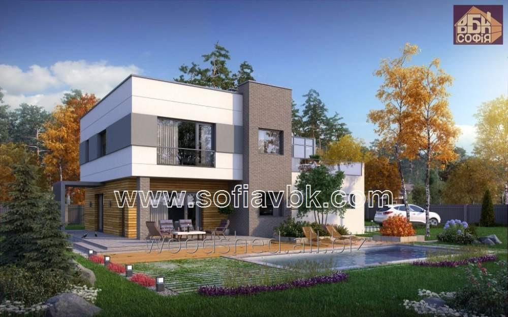 Проект дома из бруса S5 241,30 М2