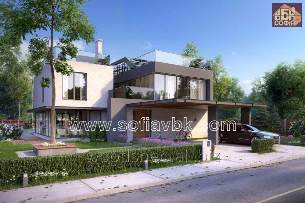 Проект дома из бруса S8 299,85 М2