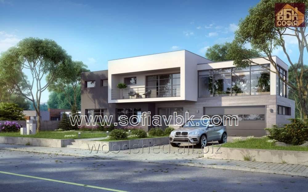 Проект дома из бруса S10 260,63 М2