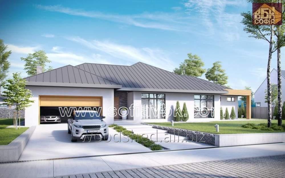 Проект дома из бруса S12 260,7 М2