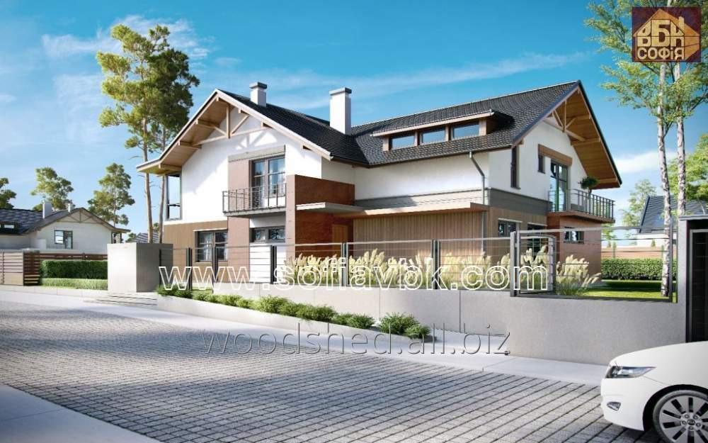Проект дома из бруса S14 320,7 М2