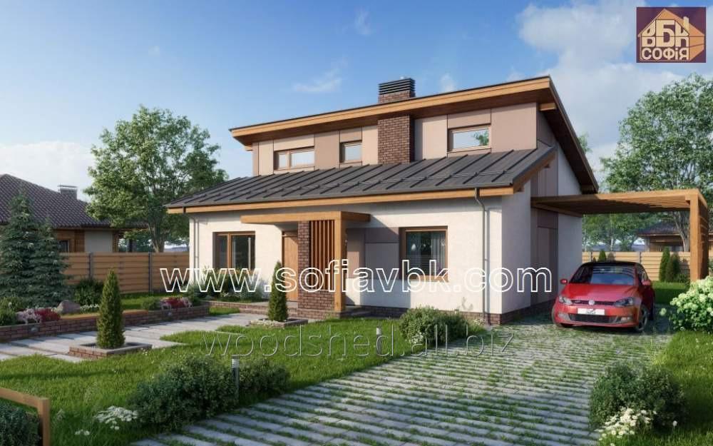 Проект дома из бруса S15 119,55 М2