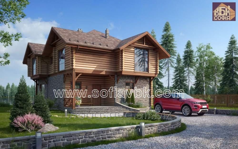 Проект дома из бруса S17 194 М2