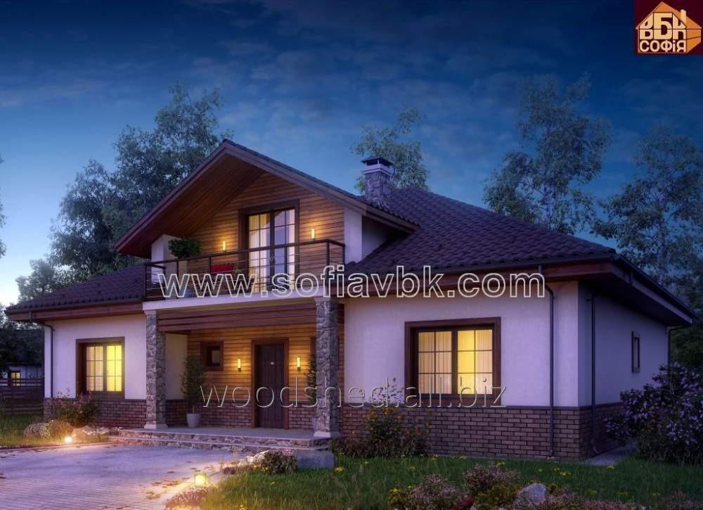 Проект дома из бруса S1 238,00 М2