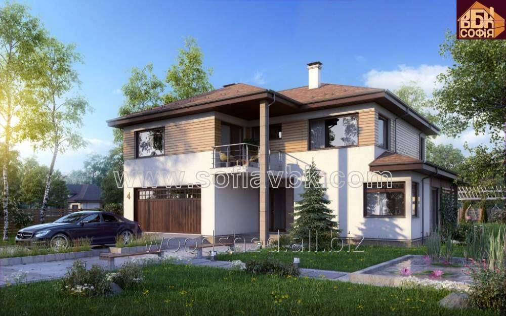 Проект дома из бруса S4 247,27 М2