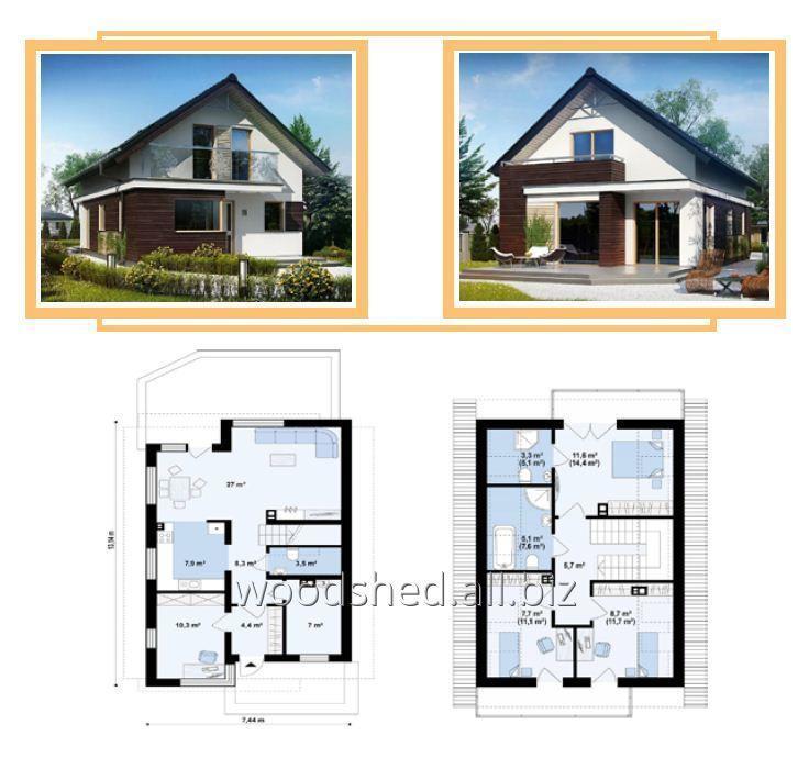 Купить Коробки дома с мансардным этажом, общей площадью - 220,0 м²