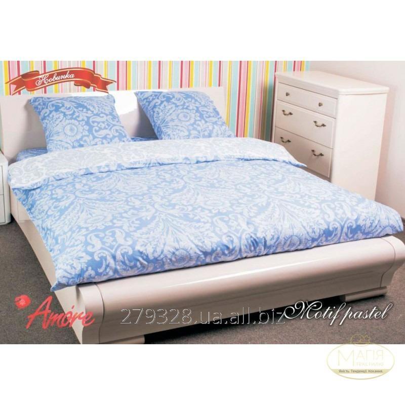 Комплект постельного белья Amore Motif pastel Поплин, код: 142206