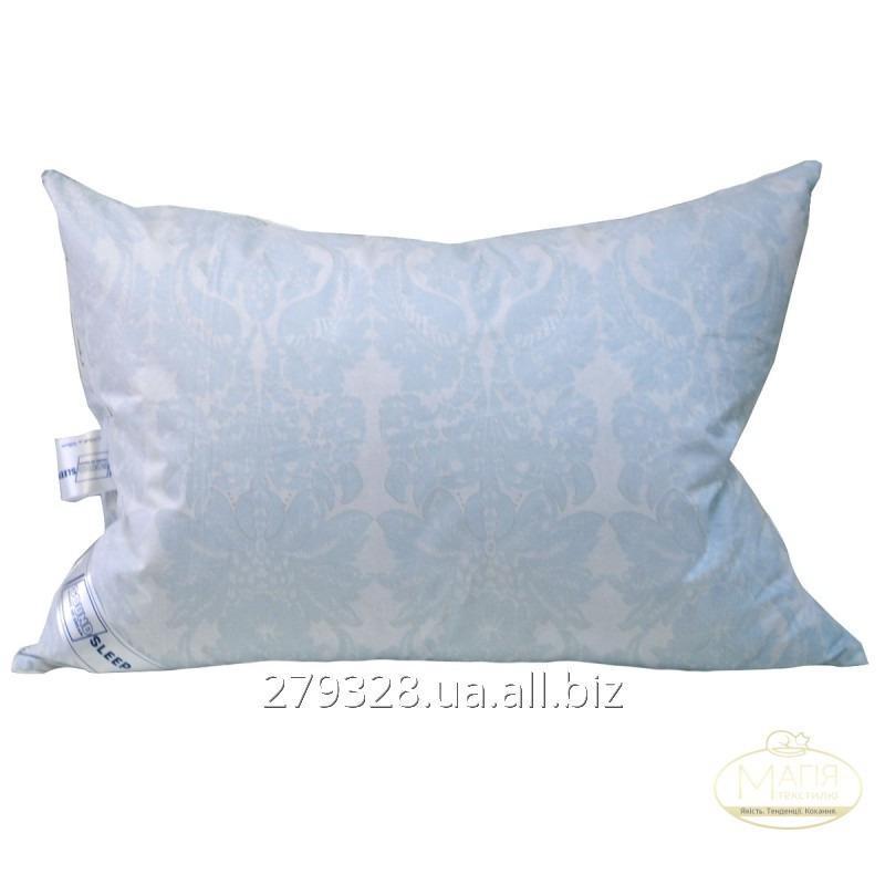 Подушка 50% пуха SoundSleep Levitation белая с голубым, код: 117033