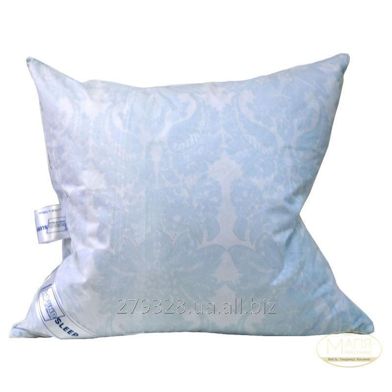 Подушка 50% пуха SoundSleep Levitation белая с голубым, код: 117035