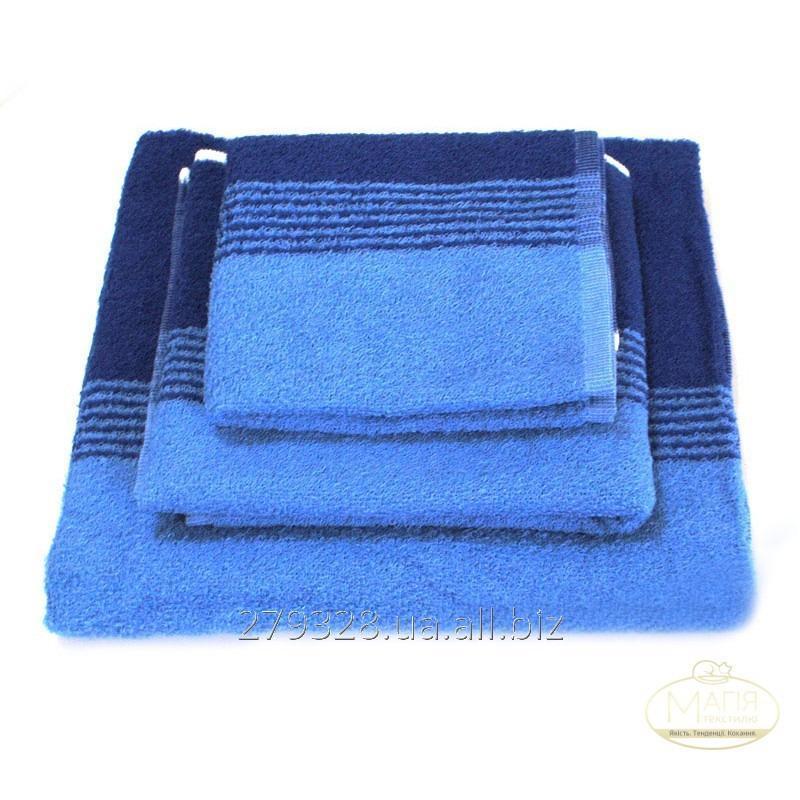 Полотенце махровое SoundSleep сине-голубое, код: 133030