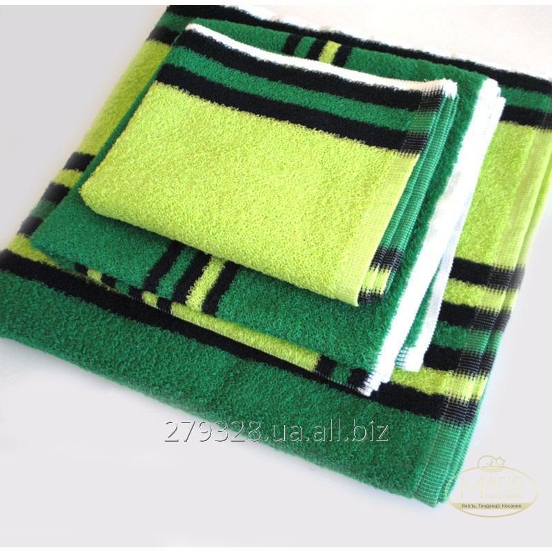 Полотенце махровое SoundSleep зелено-черное, код: 133033