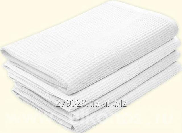 Полотенце белое вафельное, код: 18571