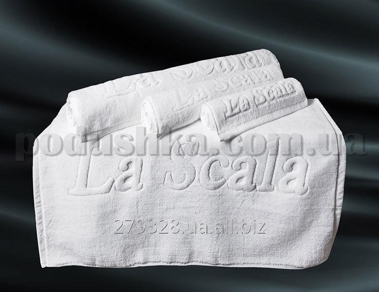 Полотенце для ног белое La Scala CH, код: 24536