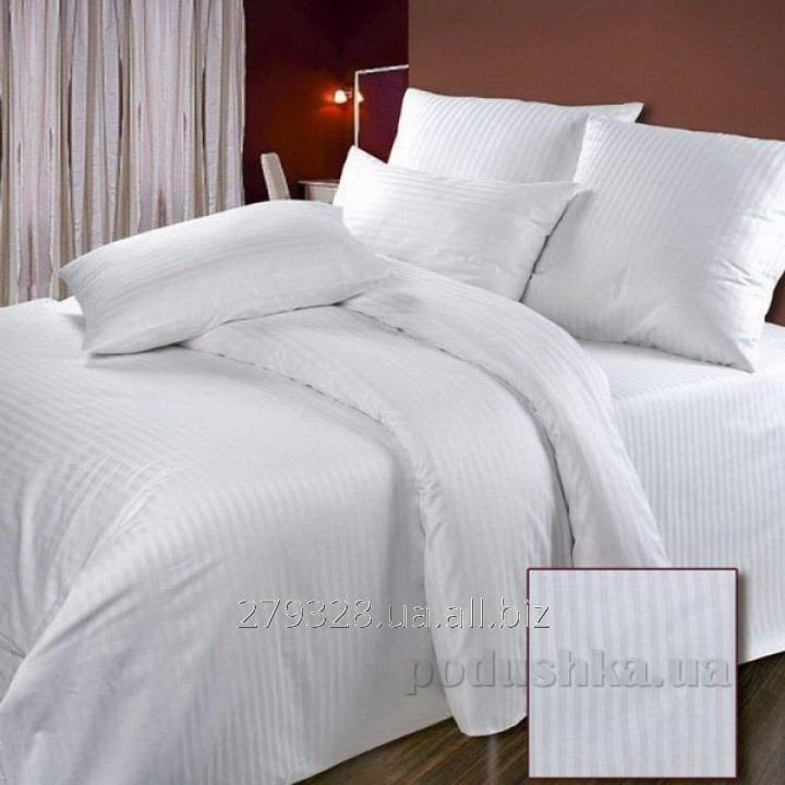 Постельное белье Билана сатин-страйп белое, код: 111740