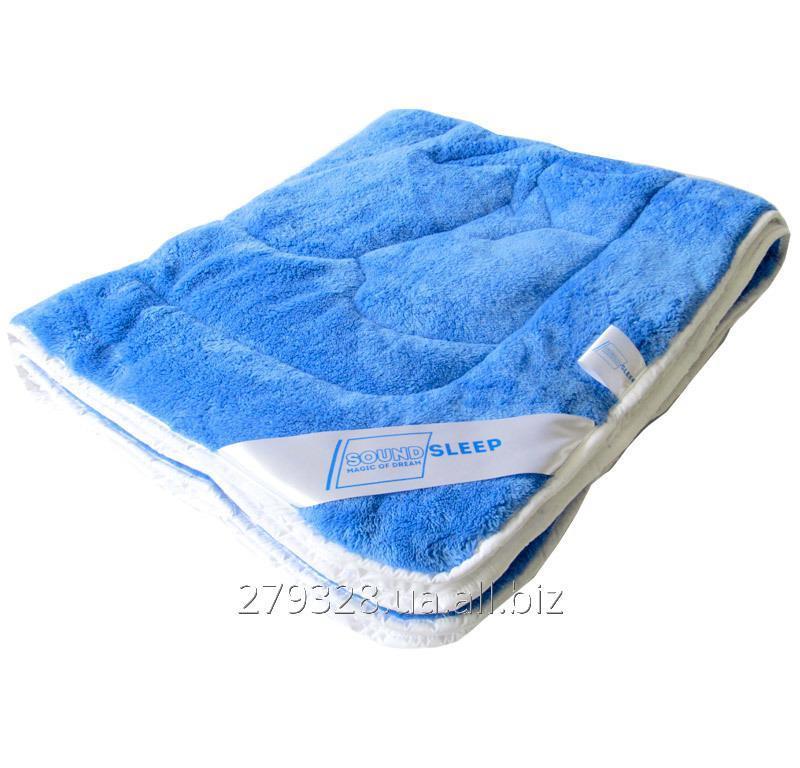 Махровое одеяло Пандочка двухстороннее SoundSleep Cute синее с белым, код: 103322